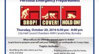 "On October 20 at 10:20 a.m., 2nd Street Community School will join millions of people worldwide will practice how to ""Drop, Cover and Hold On"" during Great ShakeOut Earthquake Drills.  Please […]"